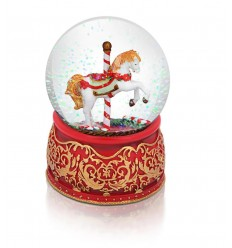 Carousel Musical Snow Globe