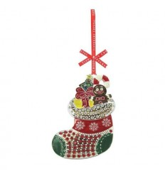 Sparke Stocking Christmas Tree Decoration - Tipperary Crystal