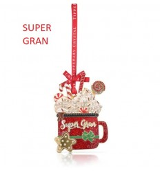 SUPER GRAN Christmas Tree Decoration - Tipperary Crystal