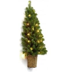 Half Wall Christmas Tree with lights