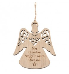 Guardian Angel Wooden Decoration
