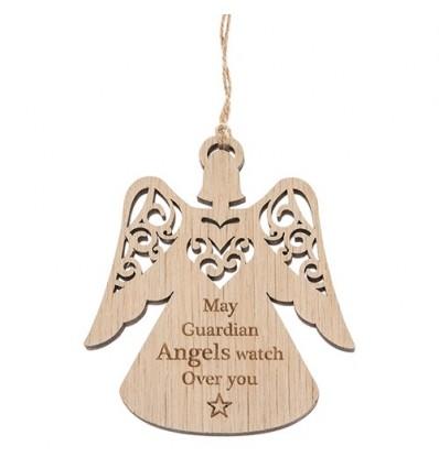 Guardian Angel Wooden Decoration