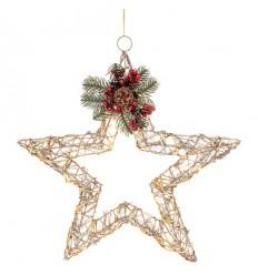 Rattan LED Christmas Star