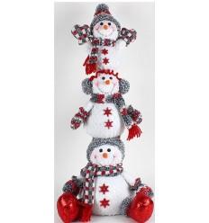Family of Snowmen Tall Christmas Decor