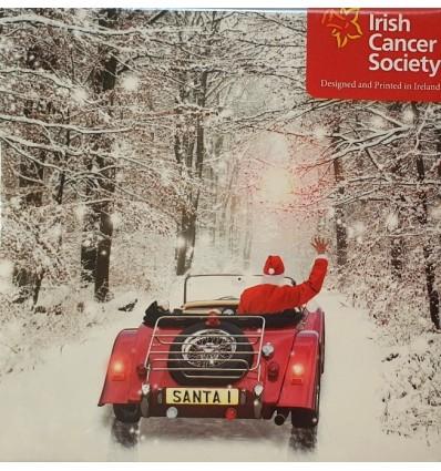Irish Cancer Society - Santa in red vintage car