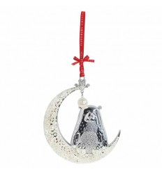 Bear On The Moon Christmas Tree Decoration - Tipperary Crystal