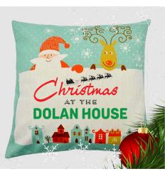 Family Name Christmas Cushion Personalised