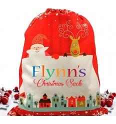 Personalised Christmas Sack - Colourful Name
