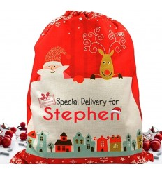 Personalised Christmas Sack -Special Delivery