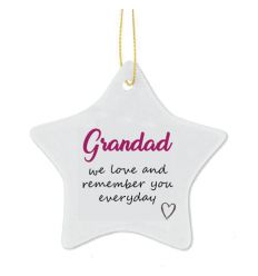 IN MEMORY OF Christmas Personalised Tree Decoration