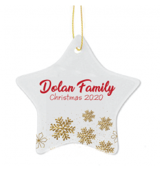 FAMILY NAME Christmas Personalised Tree Decoration