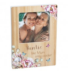 AUNTIE Floral Photo Frame