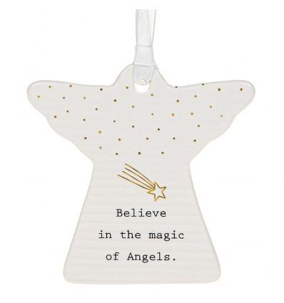 White Thoughtful Words Angel - Magic