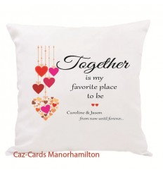 Valentines Personalised Cushion with verse and names