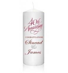 Ruby Anniversary Candle