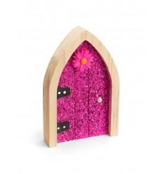 Pink Glitter Irish Fairy Door
