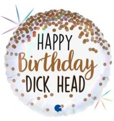 BIRTHDAY DICKHEAD FOIL BALLOON 18 INCH