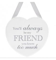 Friend Heart Hanging Plaque