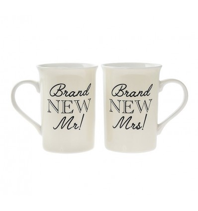 Mr and Mrs Set of 2 Mugs
