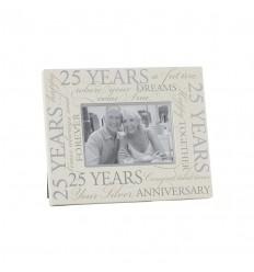 25 Year Wedding Anniversary Frame