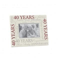 40 Year Wedding Anniversary Frame