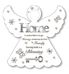 Home & Family Blessing Angel Plaque