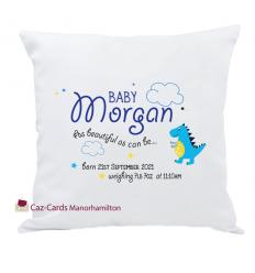 Personalised Baby Boy Keepsake Cushion