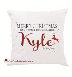 Personalised Name Christmas Cushion