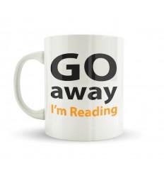 Go Away I'm Reading Mug