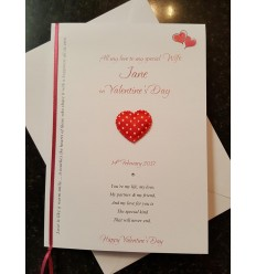 Valentine's Day Personalised Card - 4