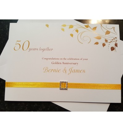 Anniversary Personalised Card - 3
