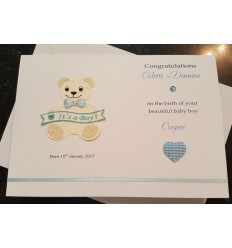 Baby Boy Personalised Card - 4