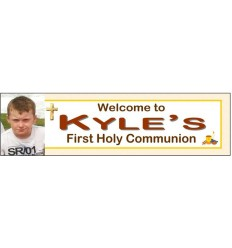 Communion Boy Banner