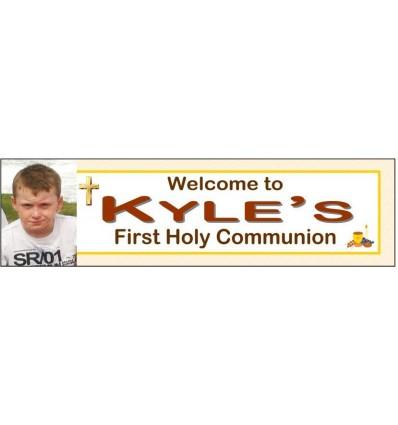 Communion Boy Banner