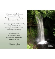 Glencar Waterfall Acknowledgement Card