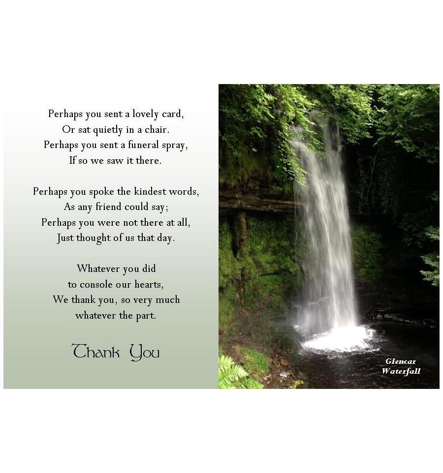 Glencar Waterfall Acknowledgement Card