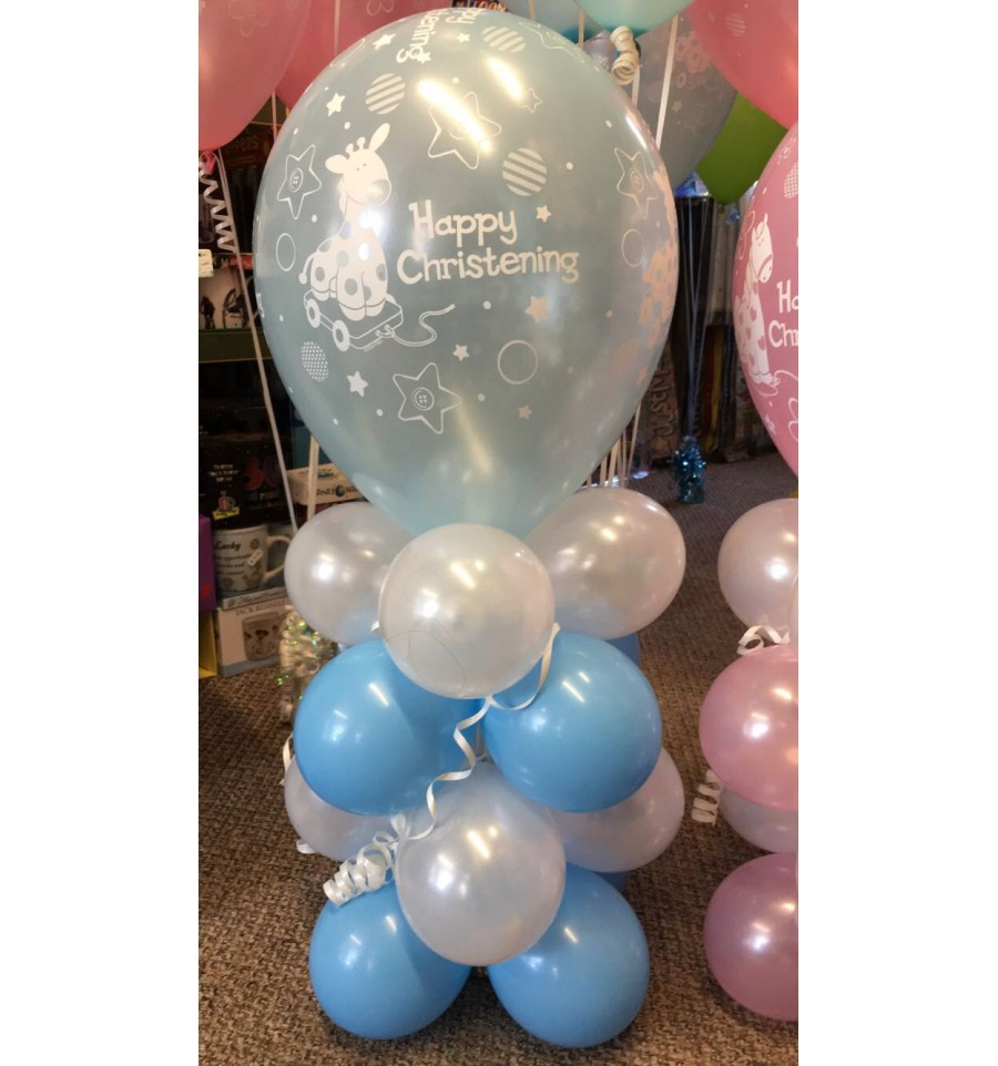 Balloon column created for all occasions caz cards for Balloon column decoration