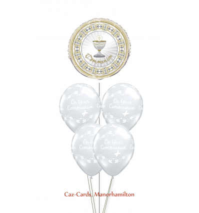 Balloon Bunch First Communion