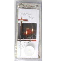 I Lit A Candle Card with Candle