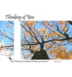 Thinking of you - blank card