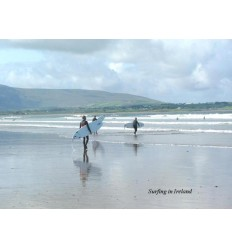 Surfing in Ireland - blank card