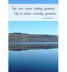 Sentiment Card - Life isn't about finding yourself...