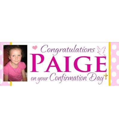 Confirmation Girl Banner