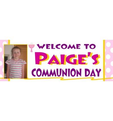 Communion Girl Banner