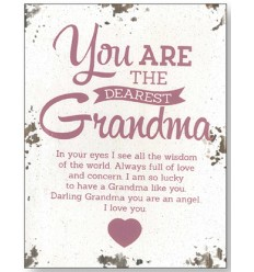 Dearest Grandma Wooden Plaque