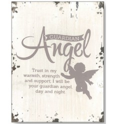 Guardian Angel Wooden Plaque