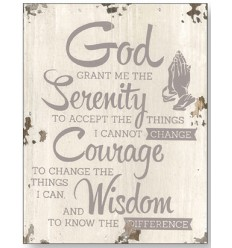God grant me the serenity Wooden Plaque
