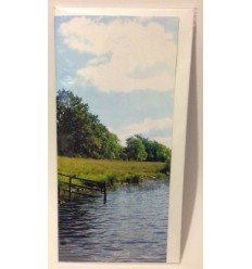 Irish Lake with Walkway - blank card