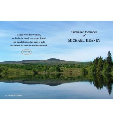 Water Reflection Memorial Card
