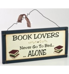 Book Lovers Wooden Plaque